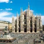 Piazza Duomo, Milaan, Lombardije, Noord Italië