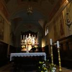 Interieur Santuario Perello bijzonder bedevaartsoort in de Orobische Alpen